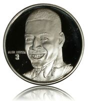ALLEN IVERSON ONE OUNCE .999 SILVER MEDAL/COIN OFFICIALLY LICENSED CAMEO