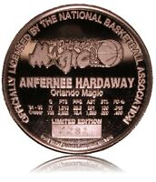 ANFERNEE HARDAWAY ONE OUNCE .999 SILVER MEDAL/COIN OFFICIALLY LICENSED CAMEO