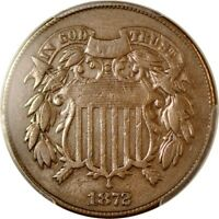 1872 2C TWO CENT PIECE PCGS VF30BN