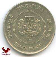 SINGAPORE     10 CENTS 1985 COIN MONEY
