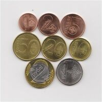 BELARUS 2009 FULL 8 COINS HIGH GRADE SET COLLECTIBLE   2 ROUBLE BIMETALLIC