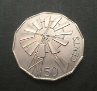 2002 AUSTRALIAN 50 CENT COIN   YEAR OF THE OUTBACK WINDMILL
