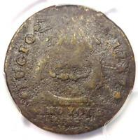 1787 FUGIO CENT 1C CLUB RAYS ROUNDED ENDS   PCGS VG DETAILS    VARIETY COIN