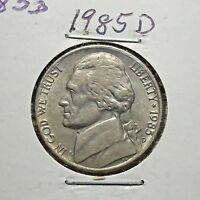 1985 D JEFFERSON NICKEL/5 CENT OLD COLLECTIBLE US COIN >>>SHIPS FREE<<< J3