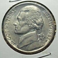 1987 P JEFFERSON NICKEL/5 CENT OLD COLLECTIBLE US COIN >>><<< J7