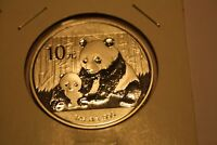 CHINA  2012 1 OZ  9999 SILVER PANDA & BABY  DESIGN :: 10 YUAN