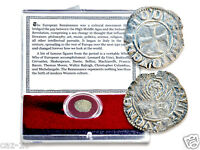 THE ITALIAN RENAISSANCE SILVER COIN IN NEW CLEAR BOX WITH STORY CARD CERTIFICATE