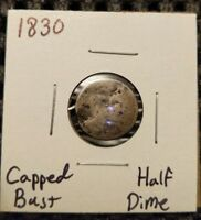 1830 CAPPED BUST HALF DIME  89  SILVER