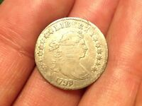1798/7 DRAPED BUST DIME   & BEAUTIFUL COIN   STRONG DETAIL