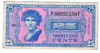 UNITED STATES MILITARY PAYMENT CERTIFICATE SERIES 541 25 CENTS USA MPC P. M38