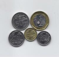 SINGAPORE 2013   2014 FIVE HIGH GRADE AND VALUE COINS SET: 1 DOLLAR TO 5 CENTS
