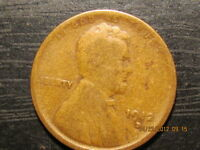 1912 D LINCOLN WHEAT CENT  SOLID ALBUM HOLE FILLER KEY COIN - G/VG