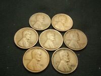1916-S, 1917-S,1921-S,1923-S,  1924-S,1925-S,1926-S LINCOLN WHEAT CENTS US COINS