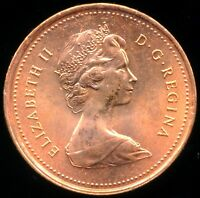 CANADA 1 CENT 1979 ERROR BU RED COIN MINT STATE DOUBLE FOREHEAD