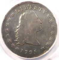 1795 FLOWING HAIR SILVER DOLLAR $1 COIN - ANACS VG8 DETAIL -  COIN