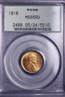 1916 LINCOLN WHEAT CENT PENNY PCGS MINT STATE 65RD OGH - BLAZER           7-15ANHN
