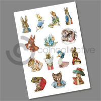 BEATRIX POTTER 50P COIN DECALS STICKERS COMPLETE COLLECTION MULTI LISTING