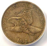 1858/7 FLYING EAGLE CENT 1C OVERDATE PENNY - CERTIFIED ANACS VF30 DETAILS