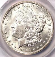 1891-O MORGAN SILVER DOLLAR $1 - CERTIFIED ANACS MINT STATE 60 -  DATE IN UNC/BU