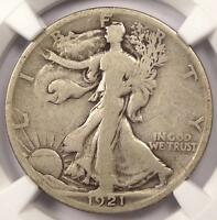 1921-S WALKING LIBERTY HALF DOLLAR 50C - NGC VG8 -  KEY DATE CERTIFIED COIN