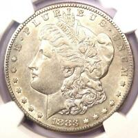1883-S MORGAN SILVER DOLLAR $1 - CERTIFIED NGC AU55 -  DATE - NEAR UNC/MS