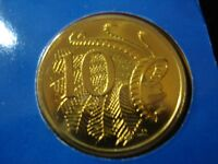 AUSTRALIAN 1984 10 CENTS COIN UNCIRCULATED
