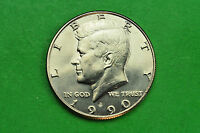 1990 P GEM BU  MINT STATE KENNEDY US HALF DOLLAR COIN