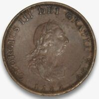 1799 GREAT BRITAIN ONE FARTHING HIGH GRADE COPPER COIN 200  YEARS OLD