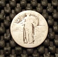 DATELESS STANDING LIBERTY QUARTER   90  SILVER