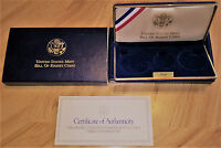 1993 BILL OF RIGHTS COMMEMORATIVE 3 COIN PROOF SET OGP BOX AND COA  NO COINS