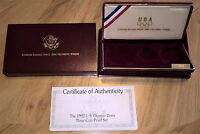 1992 OLYMPIC COINS COMMEMORATIVE 3 COIN PROOF SET OGP BOX AND COA  NO COINS