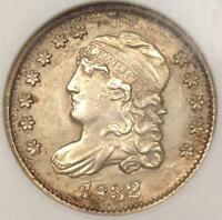 1832 CAPPED BUST HALF DIME H10C - ANACS UNCIRCULATED DETAILS -  MS BU COIN