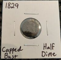 1829 CAPPED BUST HALF DIME 89 SILVER