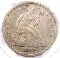 1846-O SEATED LIBERTY SILVER DOLLAR $1 - CERTIFIED PCGS VF DETAILS -  COIN
