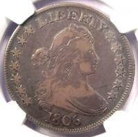 1806 DRAPED BUST HALF DOLLAR 50C COIN O-115 - CERTIFIED NGC F15 - $600 VALUE