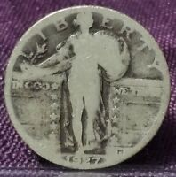 1927 STANDING LIBERTY QUARTER RAW W2629BB
