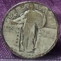 1927 STANDING LIBERTY QUARTER RAW W2627BE