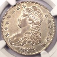 1832 CAPPED BUST HALF DOLLAR 50C - NGC EXTRA FINE 45 EF45 PQ -  CERTIFIED COIN