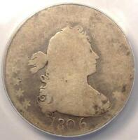 1806 DRAPED BUST QUARTER 25C - ANACS FR2 FAIR -  EARLY CERTIFIED COIN