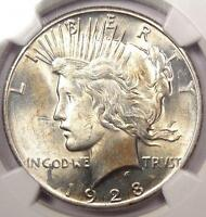 1928 PEACE SILVER DOLLAR $1 - NGC UNCIRCULATED -  1928-P BU MS UNC COIN
