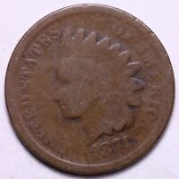 1874 INDIAN HEAD CENT PENNY            R9TL