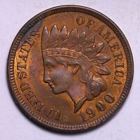 BU 1900 INDIAN HEAD CENT PENNY R10WET