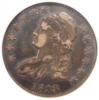 1833 CAPPED BUST HALF DOLLAR 50C - ANACS EXTRA FINE 40 EF40 PQ -  CERTIFIED COIN