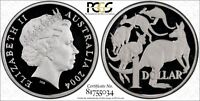 2004 MOB OF ROO'S SILVER PROOF $1 COIN PCGS PR66DCAM.