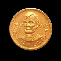 16TH US PRESIDENT  1861 1865  ABRAHAM LINCOLN  1809 1865  MINI MEDALLION/COIN