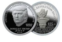 PRESIDENT DONALD TRUMP 1 OZ .999 SILVER DOLLAR   PROOF INAUGURATION NORFED FDOI