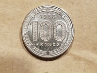 1968 CAMEROON 100 FRANCS COIN AFRICA ANIMALS GAZELLE UNCIRCULATED UNC MS NICE