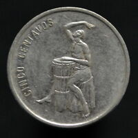 DOMINICAN REPUBLIC 5 CENTAVOS  DOMINICAN DRUM  1989. KM69. NORTH AMERICAN COIN