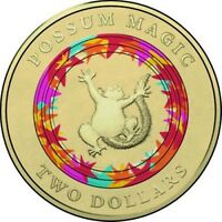 2017 $2 COIN POSSUM MAGIC AUSTRALIAN TWO DOLLAR COIN 3RD COLOUR IN SERIES CARDED