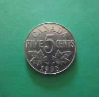 CANADA 1935 FIVE CENT COIN NICKEL GEORGE V